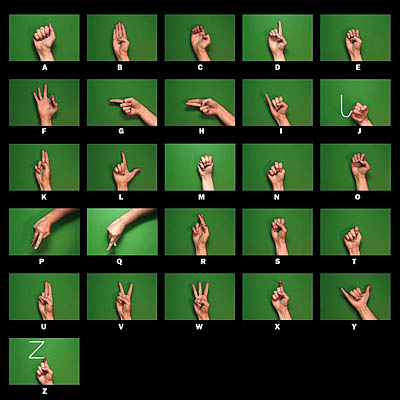 sign language letters